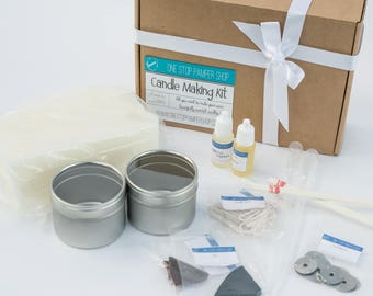 Container candle making kit, craft kit, make your own, make scented candles