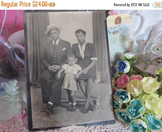 ON SALE Vintage African American Family Photo-All dressed up-Professional-Sunday Best