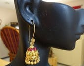 ON SALE Jaipur Jhumkas -J474-Petite Gold Polish Jhumkas