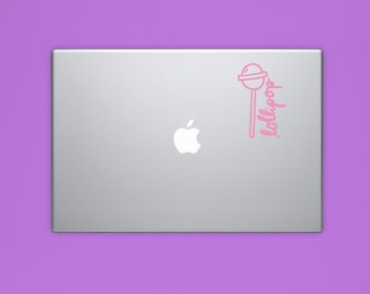 New! - Lollipop VINYL Decal, Illustrated Candy Decal, Computer Decal, Vinyl Sticker