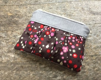 Anna Maria Horner, Starry Coin Purse, Ruffled Coin Purse, Divided Coin Purse, Clutch, Zippered Pouch, Gift Idea, Mother's Day Gift