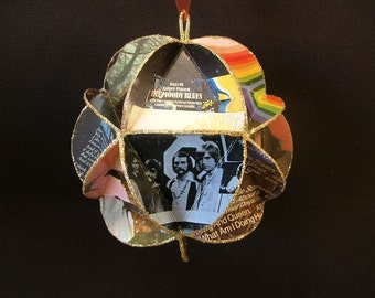 Moody Blues Album Cover Ornament Made Of Repurposed Record Jackets