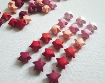 100 Valentine Candy Red/Pink Gradient Origami Lucky Stars