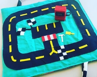 Race Car Track Travel Play Mat