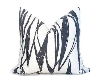 Deco Pillow Cover - Charcoal Gray and White -  Brushstrokes Pillow - Paint Lines Pillow - Abstract - Charcoal Pillow - Neutral Pillow -