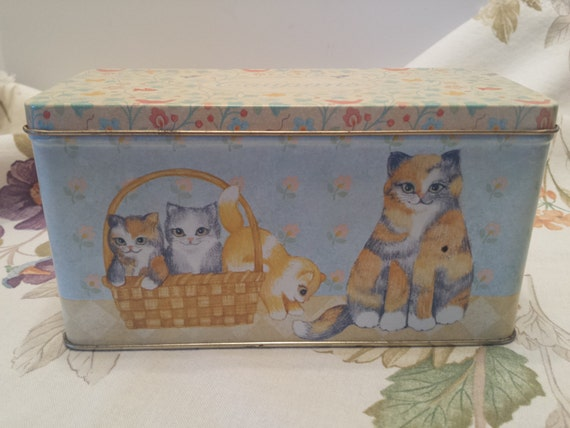 Cats - Current Inc Vintage Tin - Cat Capers Coupon Organizer Tin Vintage 1991