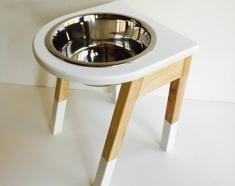 Single bowl elevated feeder - raised dog feeder - raised bowl - feeding stand