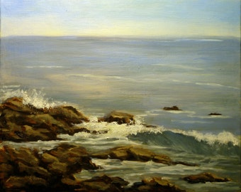 ROCKY COAST 8x10 oil painting by Alexandra Kopp