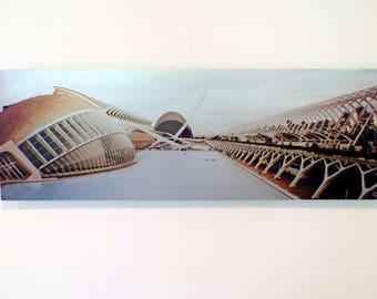 Calatrava Architecture Valencia Spain Metal Print La Ciudad de las Artes y las Ciencias