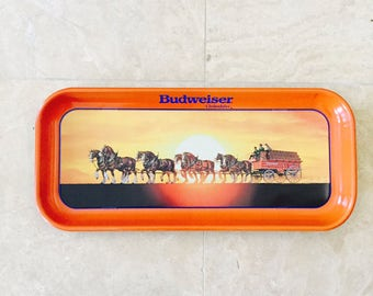BeerTray, Budweiser Clydesdales Tray, 1992 Anheuser-Busch Tray