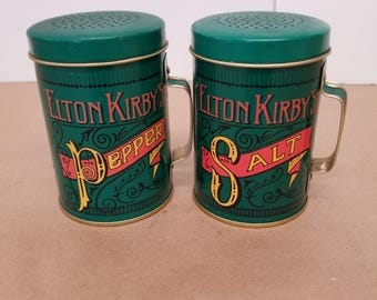 Vintage Tin Salt and Pepper Shakers