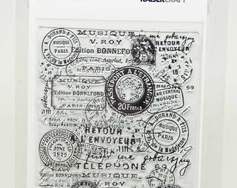 KaiserCraft Background Collection Clear Stamps -- Acrylic -- Postmarks
