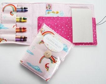 Crayon Wallets coloring wallets girl styles set 2 , drawing sets art kits