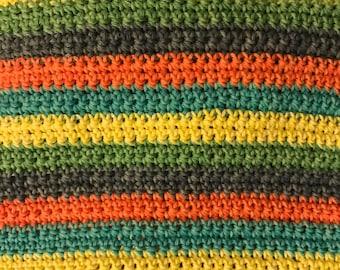 Handmade crochet 100% pure cotton tea towels YOUR COLOUR CHOICE!