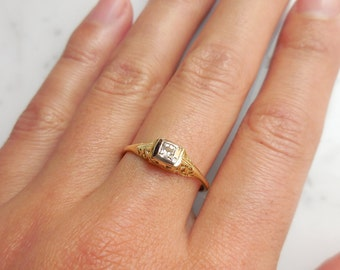 Antique Engagement Ring, Antique Jewelry, Antique Ring, Antique Diamond Ring 18k Gold Ring Simple Engagement Ring