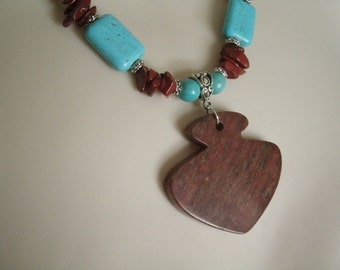 Turquoise And Jasper Necklace, southwestern jewelry southwest jewelry turquoise jewelry native american jewelry style country western rodeo