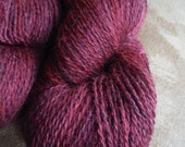Overdyed Farm Fresh 70/30 Jacob Wool and Mohair Sport Weight Yarn, approx 4 oz/400 yards