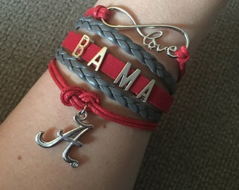 Alabama Infinity Bracelet