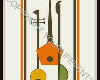 Mid-Century Modern Art Print | Instant Download | Printable Mid-Century Modern Art