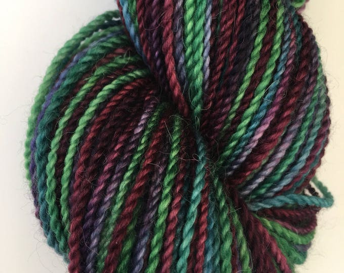 Marooned Green Variegated Alpaca Merino Yarn