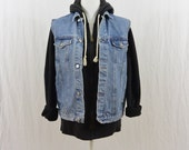 Vintage Denim Vest, Size Small-Medium, Grunge, 90's Clothing, Hipster, Tumblr, Classic, Simple, Minimalist, Utility Clothing