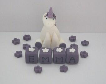 Personalised Handmade Unicorn Cake Topper Decoration