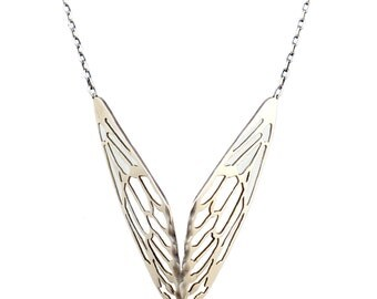 Glass Wings Necklace