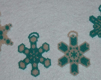 Beaded Snowflakes Ornaments #42 Kaleidescopes Gift Party Favors Wedding Christmas Stocking Stuffers Kids Adults