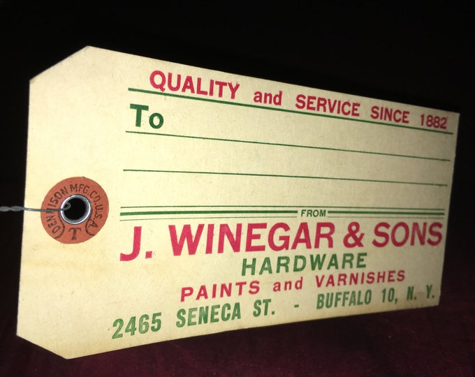 Vintage Hardware Store Advertising Tags: J. Winegar & Sons, Buffalo NY