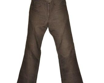 ON SALE Vintage Brown LEVI'S Levis 517 Bootcut Corduroy Jeans 30 x 34 Talon 42 Zipper 30x31.5
