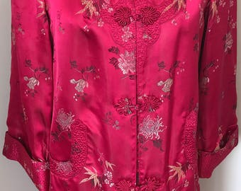 PEONY Vintage Magenta/Pink coat/robe 36