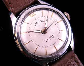 F. J. Cooper Jewelers - Fine Swiss Watch - c.1950's