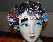 Independance Day Celebration  Banded Bouffant Surgical Cap / Bakers Cap