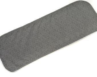 Grey Tweed Burp Cloth - New Baby Gift, Personalized Baby Gift, New Baby Boy, Boutique Baby