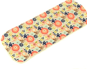 Woodland Floral Burp Cloth - New Baby Gift, Personalized Baby Gift, New Baby Girl, Boutique Baby