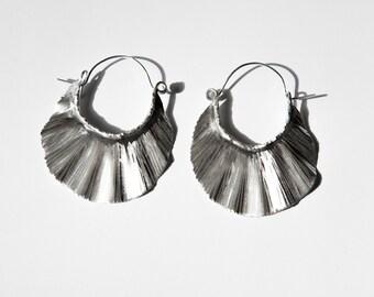Crinkled Fan earrings