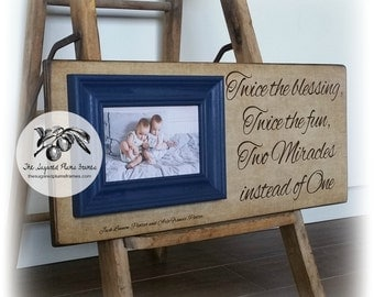 Twins Baby Gift, Twin Nursery Decor, Twin Nursery Art, Rustic Nursery Decor, Rustic Nursery Wall Art, Rustic Wooden Sign, 8x20
