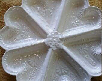 Hearts Dish Staffordshire repro Metropolitan Museum porcelain dish
