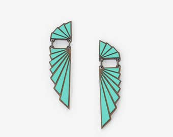 AILES TEAL, Art Deco Collection by Materia Rica