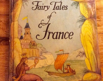 Vintage FAIRY TALES of France 1960 Hard Cover Illustrated by William McLaren Very Fine Condition