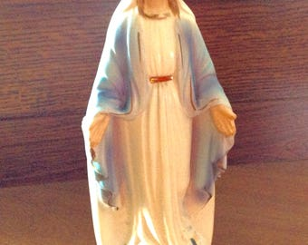 Vintage Virgin Mary Statue & Planter NICE with no flaws