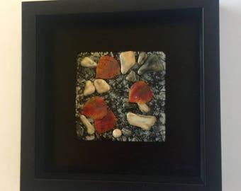 Fused glass, handmade fused glass, fused glass wall panel, Fused Glass art, handmade fused glass panel, fused glass wall art, fall