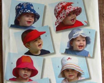 Infant Hats and Visors Butterick Pattern B4531 UNCUT