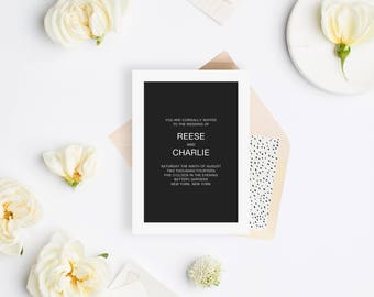 Wedding Invitation Sample - The Reese Suite