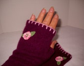 Cashmere Fingerless Gloves Armwarmers Upcycled Cashmere
