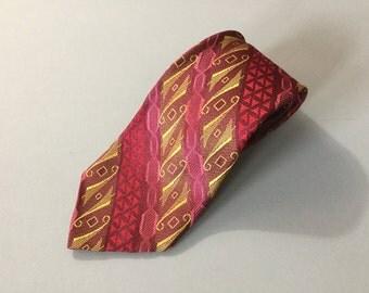 Mad men tie, MCM necktie, MCM tie, wild necktie, men's fashion, vtg necktie, vintage tie