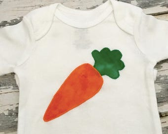 Cute Carrot Baby Onesie Veggie Lovers