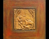 St. Francis: A Blessing on Animals & Those Who Love Them, Handmade Framed Tableau