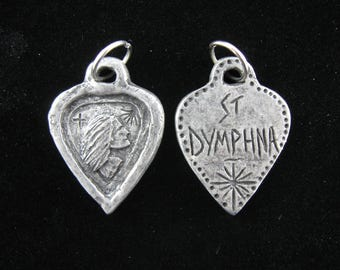 St. Dymphna: Against Anxiety, Stress, Worry, Handmade Medal