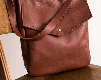 Sale, FOKS FORM Tote Bag 07, Minimal leather tote bag, handbag, shoulder bag